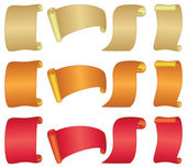 Banners scrolls, set — Stock Photo