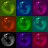 Bubbles smileys, colorful — Stock Photo