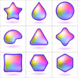 Icons buttons rainbow, set - Foto Stock