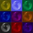 Stock Photo: Bubbles smileys, colorful