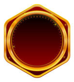 Golden frame, red — Stock Photo