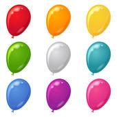 Ballonnen, instellen — Stockvector