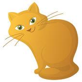 Red cartoon cat — Stock Vector