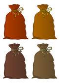Bag linen, set — Stock Photo