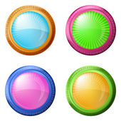 Colorful round buttons, set — Stock Vector
