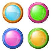 Renkli yuvarlak düğmeleri ayarlamak — Stok Vektör