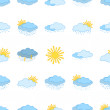 Meteorological symbols, seamless - Stock Photo