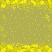 осенний фон, листья на браун — Стоковое фото