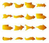 Abstract arrows, gold — Stock Vector