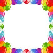 Background balloons frame — Stock Photo