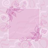Abstrakt floral bakgrund — Stockfoto