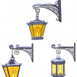 Vintage street lanterns — Stock Vector