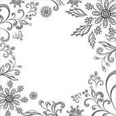Flower background, contours — Stock Photo