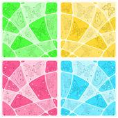 мозаика стола с бабочками — Cтоковый вектор