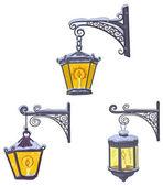 Vintage street lanterns — Stock Photo