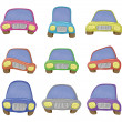Stock Photo: Cartoon, set cars