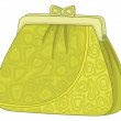 Purse with patterns - Stock Photo