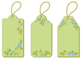 Tags with floral pattern — Stock Photo