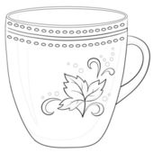 Cup with a pattern, contour — Stock Photo