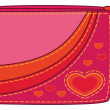 Purse with valentine hearts — Stock Photo