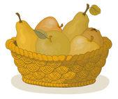 Košík s ovocem — Stock fotografie