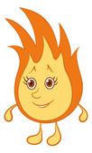 Fire smiley — Stock Photo