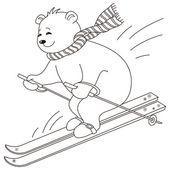 Medvídek nebe, kontury — Stock vektor