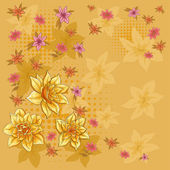 Background, pattern with flowers — Stock Photo