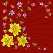 Hintergrund, Muster mit Blumen — Stockfoto