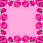 Background, flowers and frame — Stock Photo