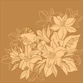 Flower background, monochrome — Stock Vector