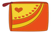 与情人节心钱包 — 图库照片