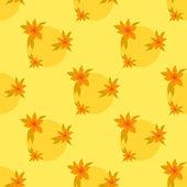 花の背景、シームレスです — ストックベクタ
