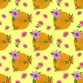 Fundo da flor, sem costura — Vetorial Stock
