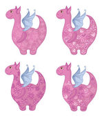 Dragons with patterns — Stock Photo