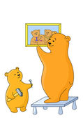 Teddy-bears: father and the son — Stock Photo