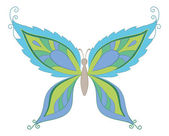 Symbolical colorful butterfly — Vector de stock