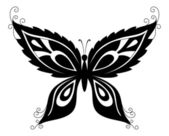 Butterfly, black silhouettes — Stock Vector