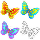 Butterfly, set — Stock Vector