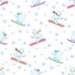 Background, teddy bears ski — Stock Photo