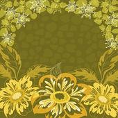 Floral background, dahlia — Stock Vector