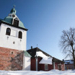 Bell-tower of the medieval cathedral. Porvoo, Finland - Stock Photo