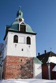 Bell-tower of the medieval cathedral. Porvoo, Finland — Stock Photo