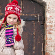 Little girl wearing winter outwear — Stock Photo