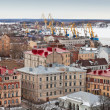 Panorama of old Vyborg town - 图库照片