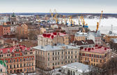 Panorama of old Vyborg town — Stock Photo