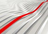 3d-wave strepen met een rode — Stockfoto