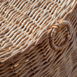 Wicker basket close-up photo — Stock Photo