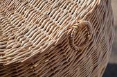 Wicker basket close-up photo — Stock Photo
