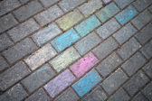 Chalk painted road pavement — Stockfoto
